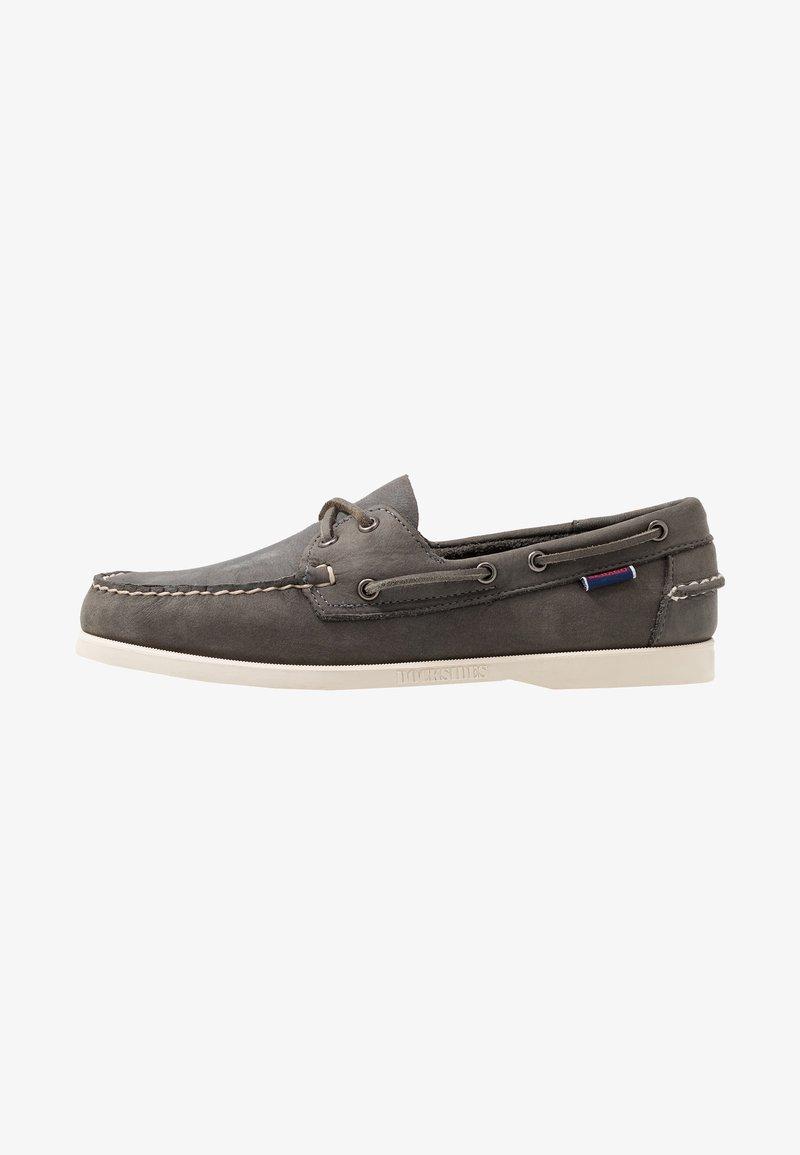 Sebago - DOCKSIDES PORTLAND CRAZY HORSE - Chaussures bateau - dark grey