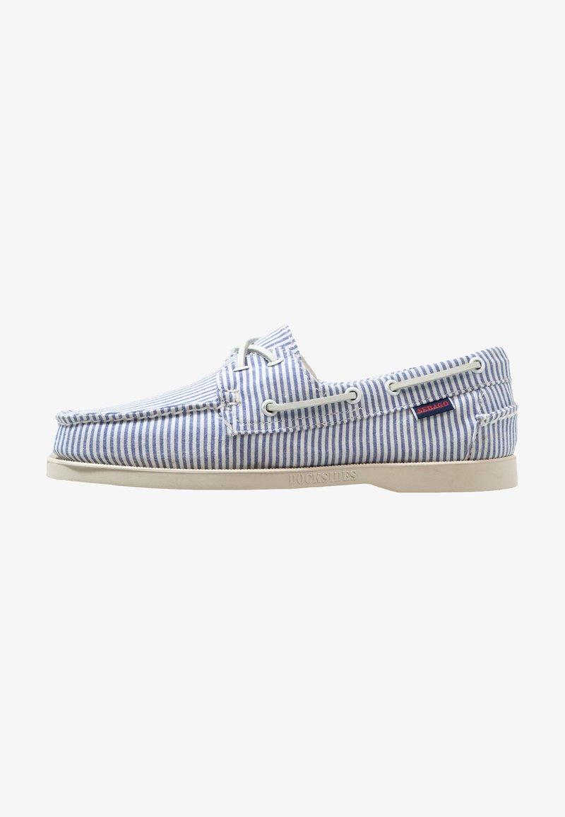 Sebago - DOCKSIDES PORTLAND - Boat shoes - light blue/white
