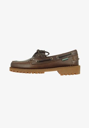 PORTLAND LUG WAXY - Chaussures bateau - dark brown