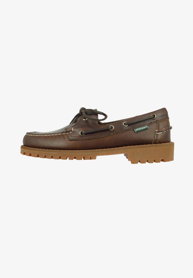 PORTLAND LUG WAXY - Boat shoes - dark brown