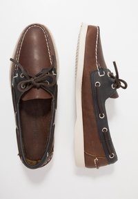 Sebago - MAPPLE - Chaussures bateau - cognac/blue navy - 1