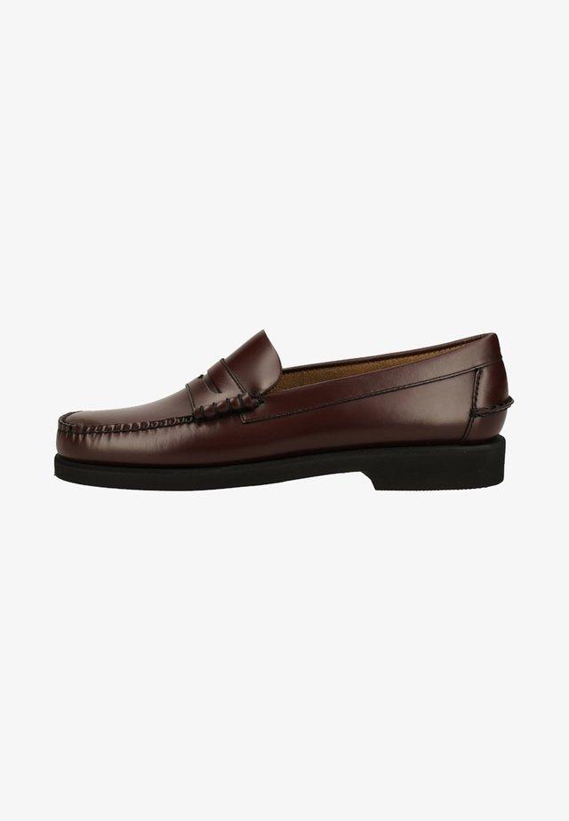 Smart slip-ons - brown burgundy
