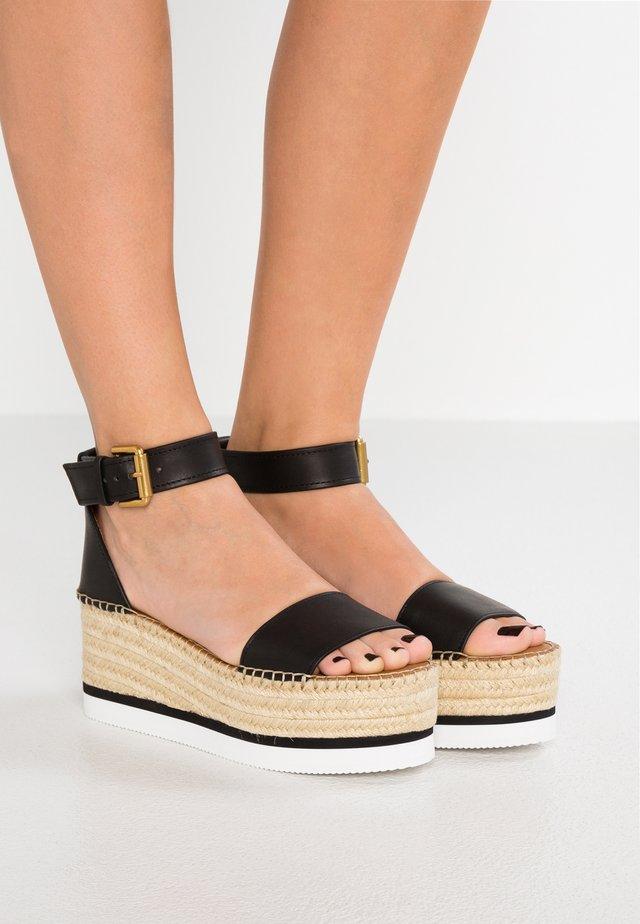 Korkeakorkoiset sandaalit - nero