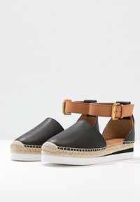 See by Chloé - EXCLUSIVE  - Espadrilky - natural/nero - 4