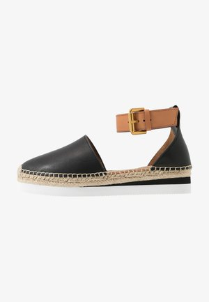 EXCLUSIVE  - Espadrilky - natural/nero