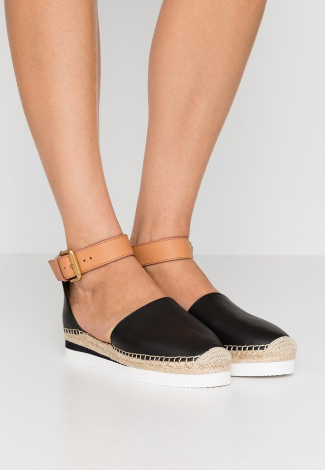 EXCLUSIVE  - Espadrillot - natural/nero
