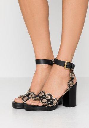 Korolliset sandaalit - nero/taupe