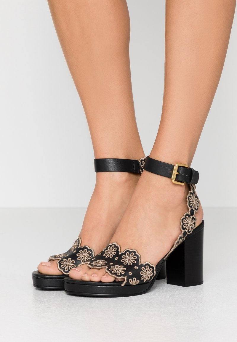 See by Chloé - Korolliset sandaalit - nero/taupe
