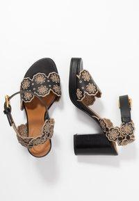 See by Chloé - Korolliset sandaalit - nero/taupe - 3
