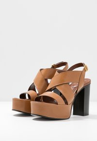 See by Chloé - High heeled sandals - cognac - 4