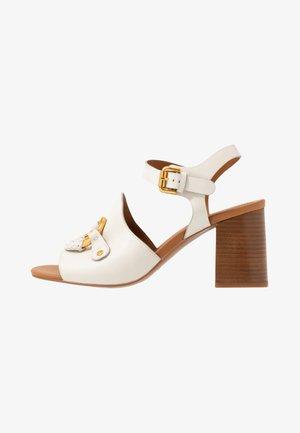 Sandalen met hoge hak - gesso