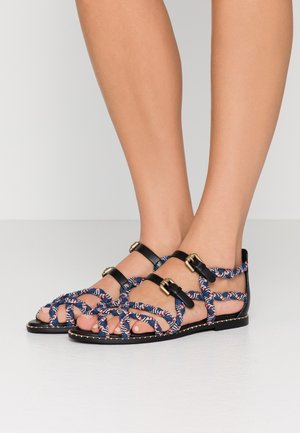 Sandalen - red/blu/black/white