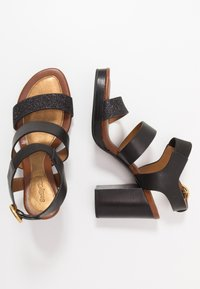 See by Chloé - High heeled sandals - glitter/nero - 3