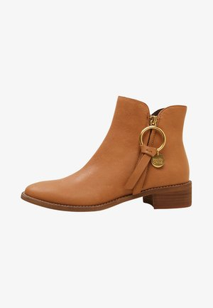 Ankle boots - camel