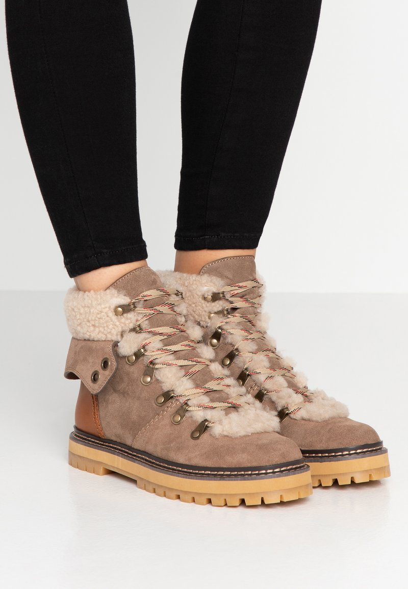 See by Chloé - Lace-up ankle boots - taupe