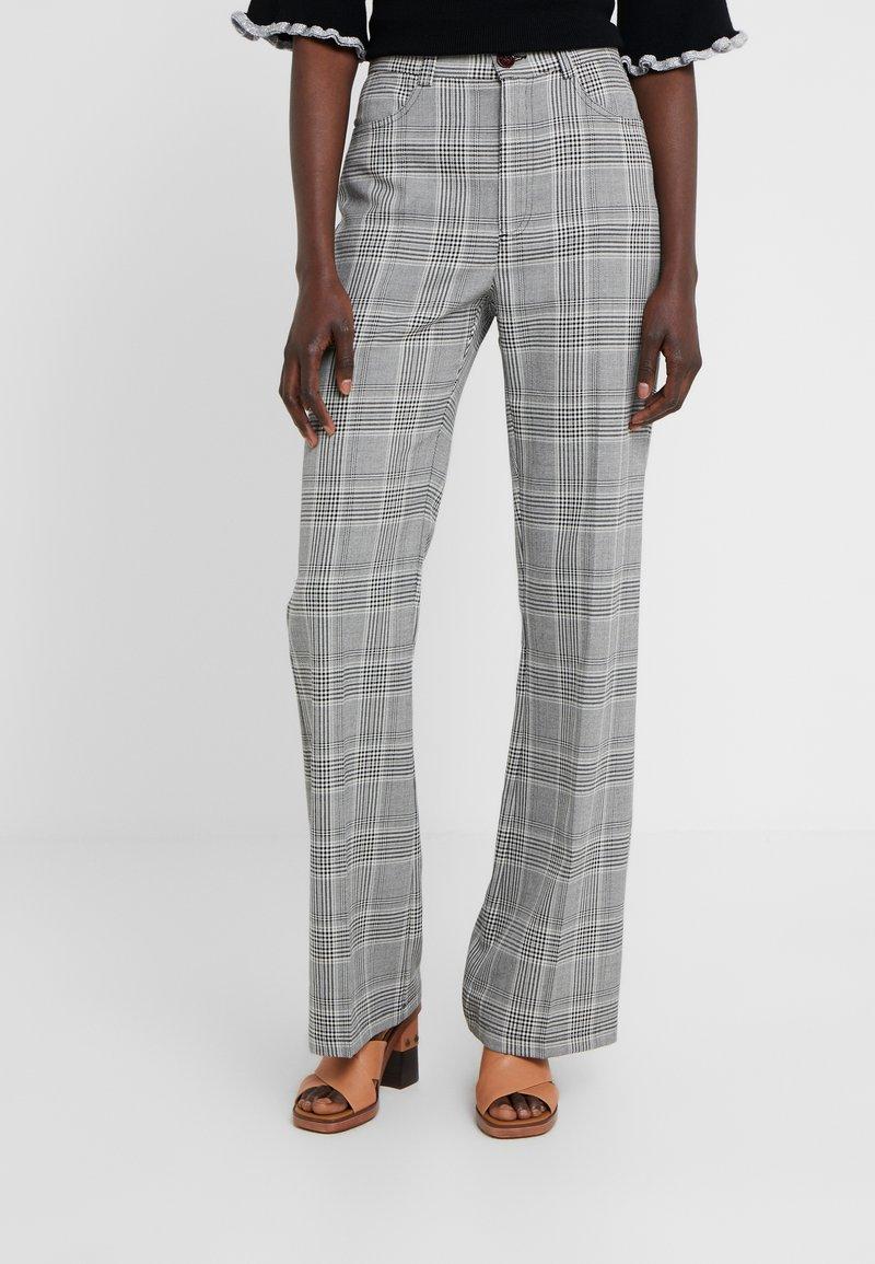 See by Chloé - Pantalones - black/white