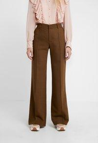 See by Chloé - Spodnie materiałowe - smoked brown - 0