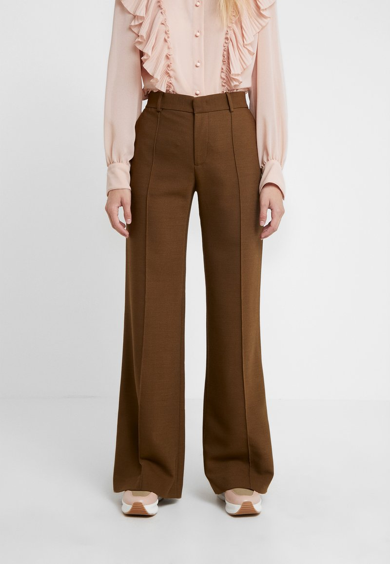 See by Chloé - Spodnie materiałowe - smoked brown