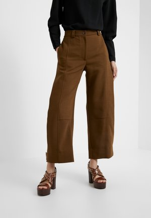 Kalhoty - smoked brown