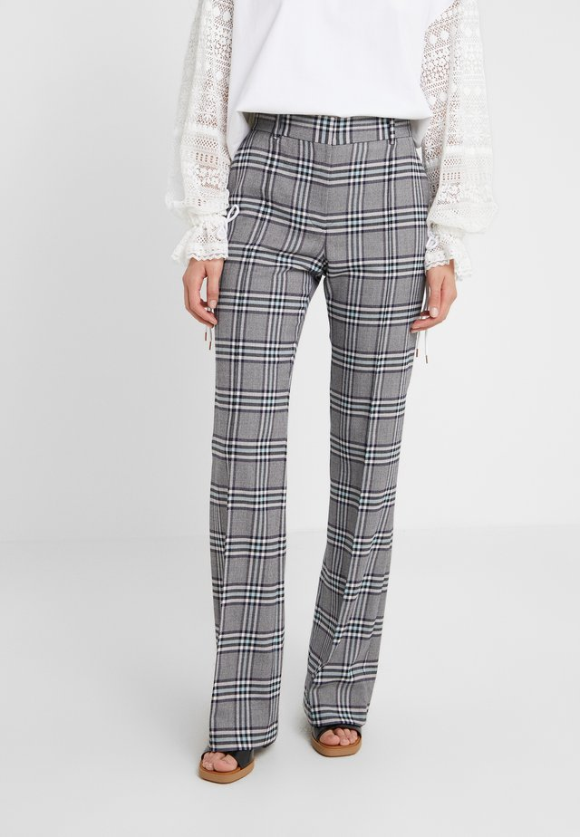 Spodnie materiałowe - multicolor blue