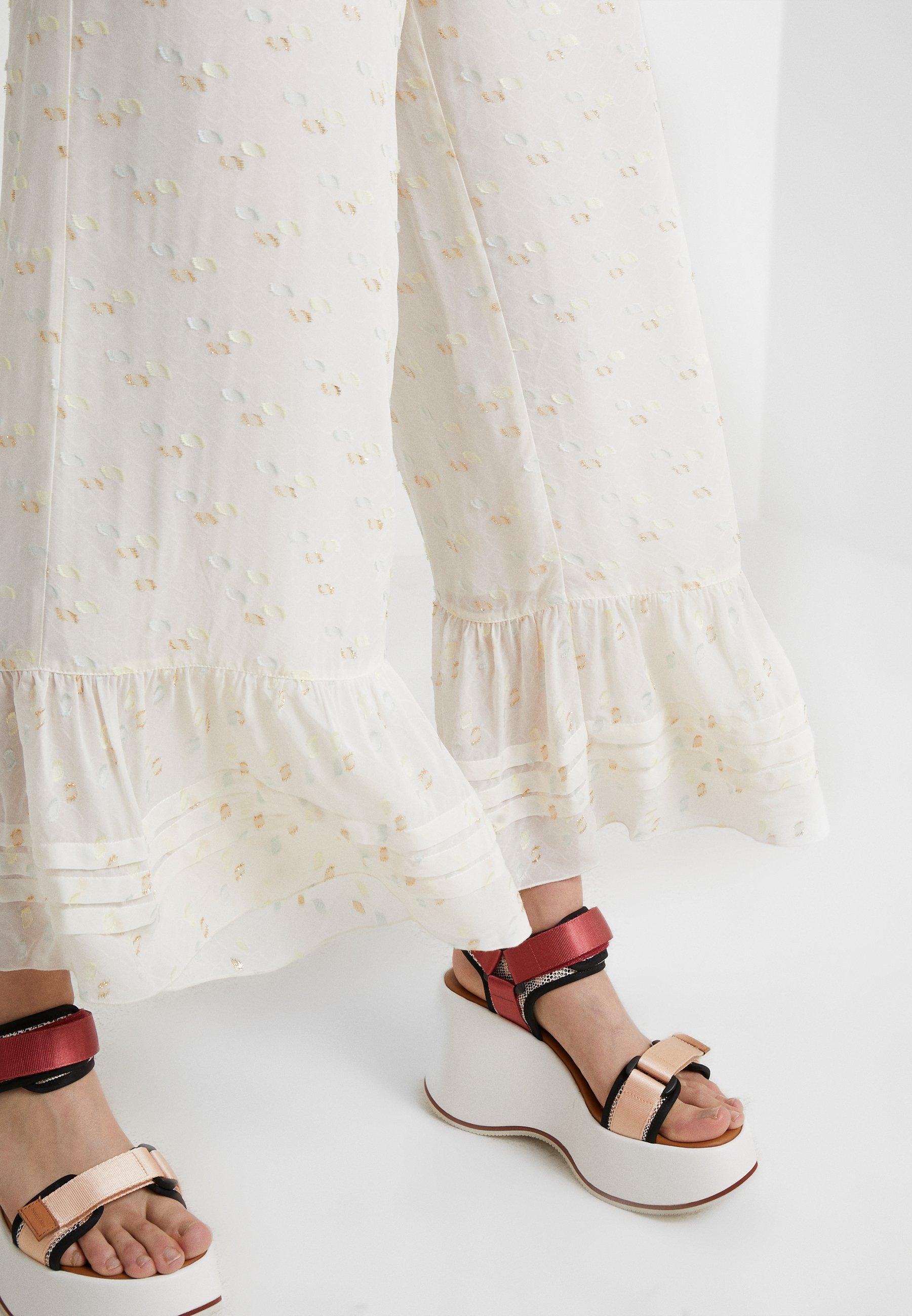 See by Chloé Spodnie materiałowe - white