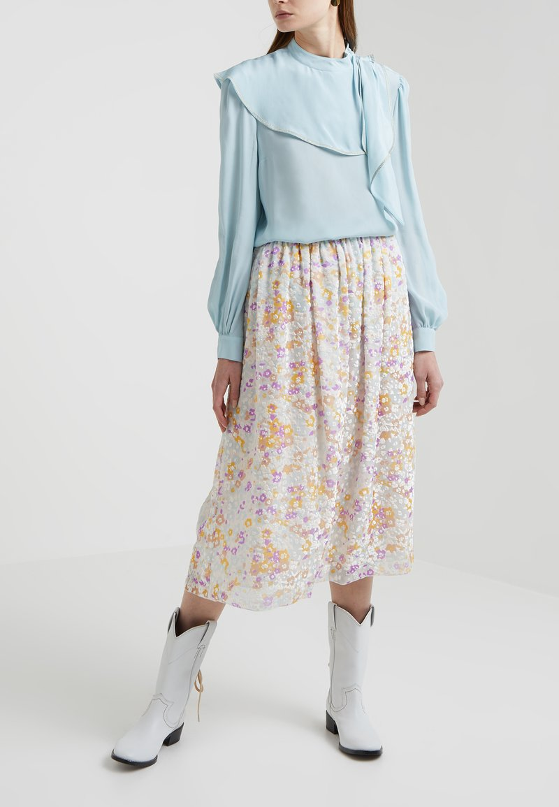 See by Chloé - A-line skirt - multicolor/grey