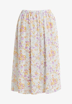 A-line skirt - multicolor/grey