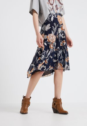 A-line skirt - multicolor/blue