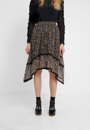 A-linjekjol - multicolor/black