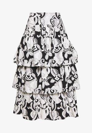 Jupe trapèze - black/white