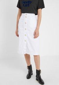 See by Chloé - Pouzdrová sukně - white - 0