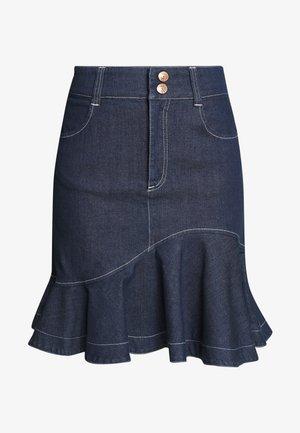 Denimová sukně - dark denim
