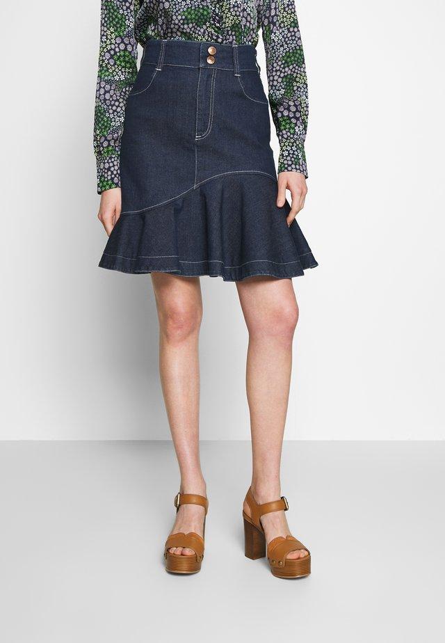 Denim skirt - dark denim