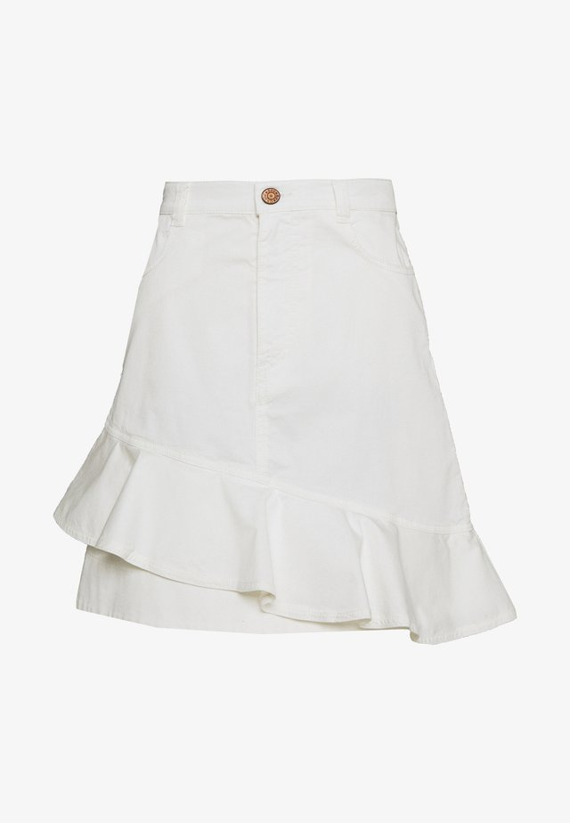 Denim skirt - confident white
