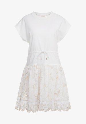 Denní šaty - white powder