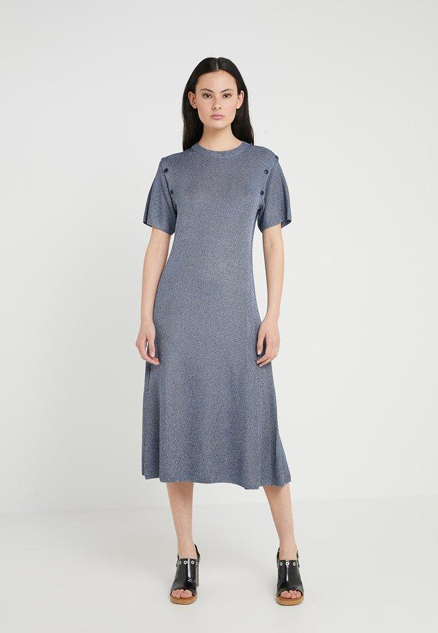 Sukienka dzianinowa - nile blue