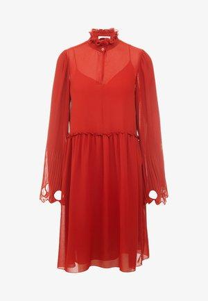 Sukienka koktajlowa - earthy red