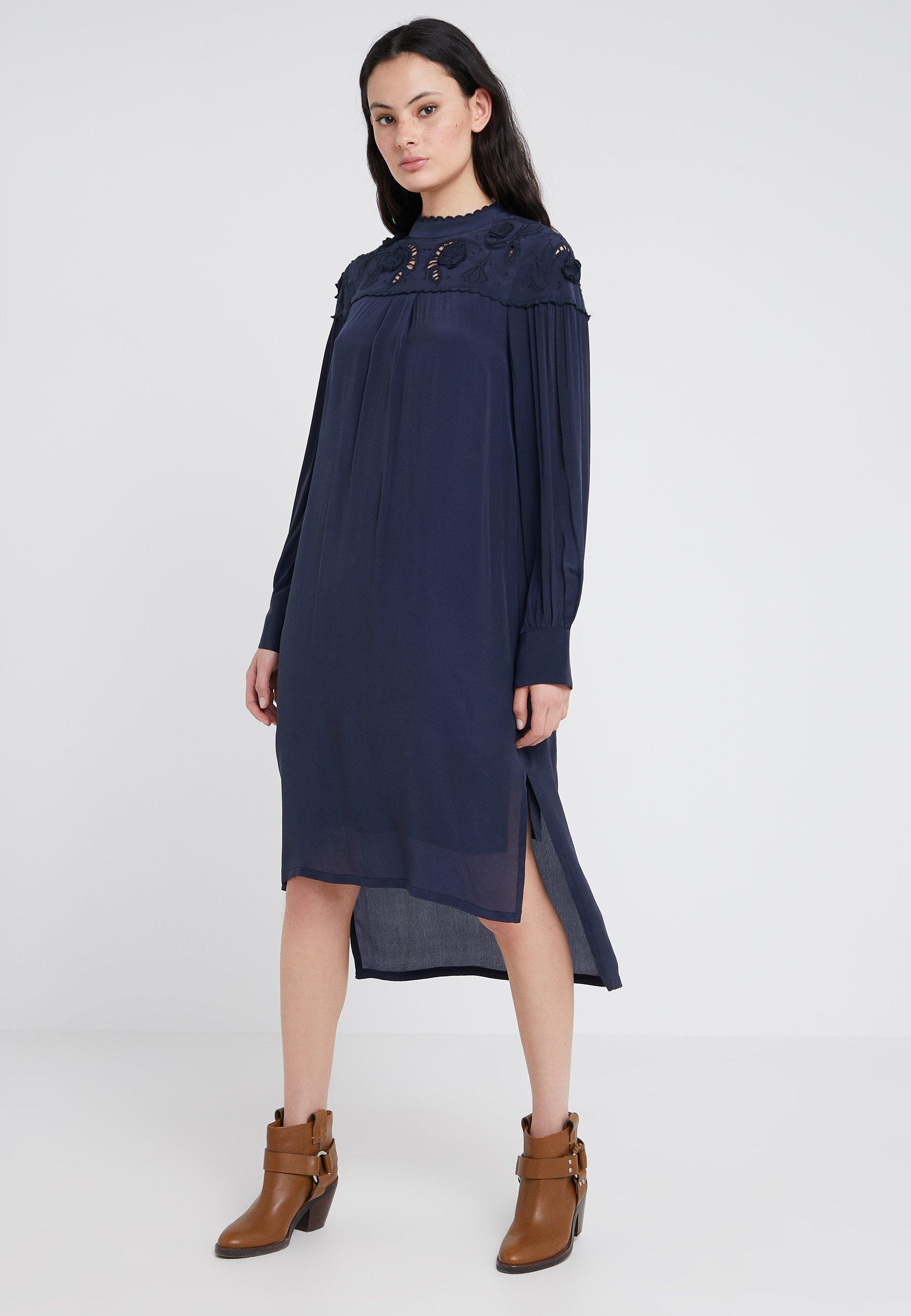 Robe By Chloé D'étéInk See Navy f7gyYb6v