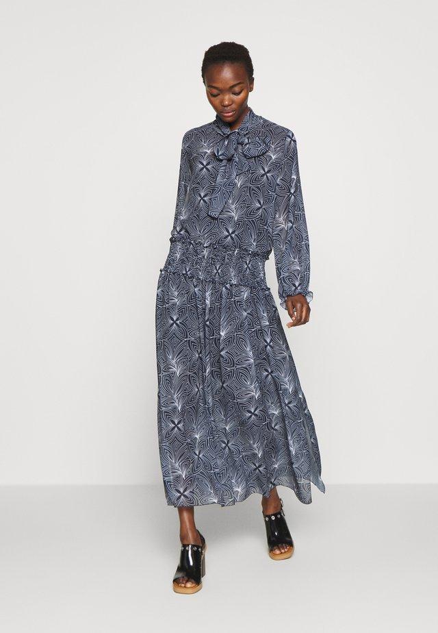 Długa sukienka - blue/white