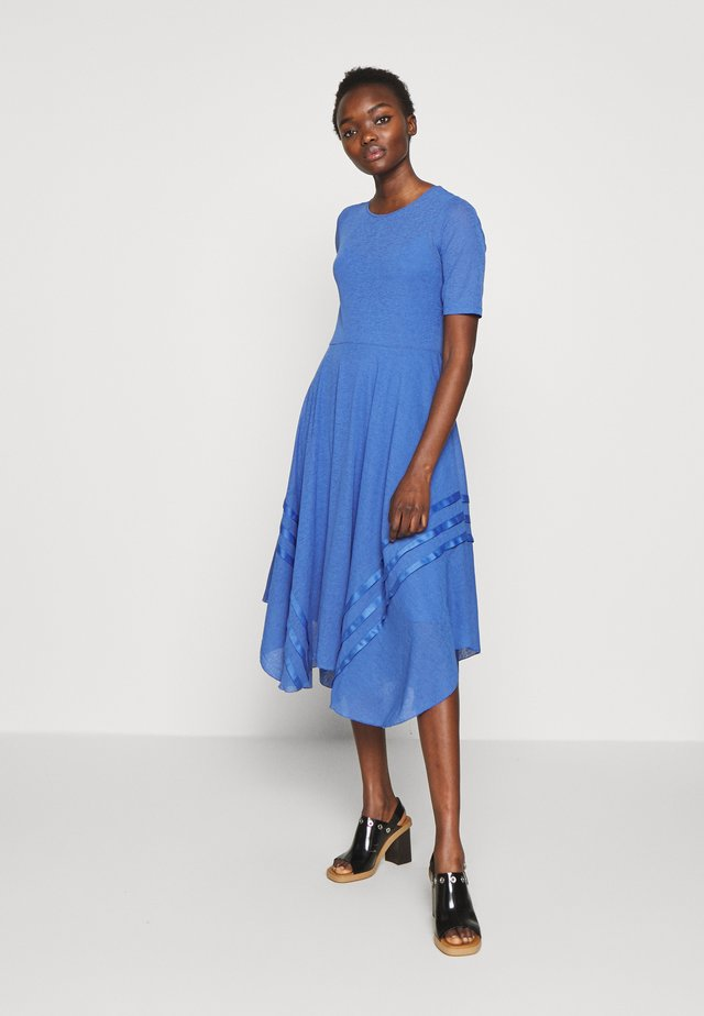 Gebreide jurk - cosmic blue
