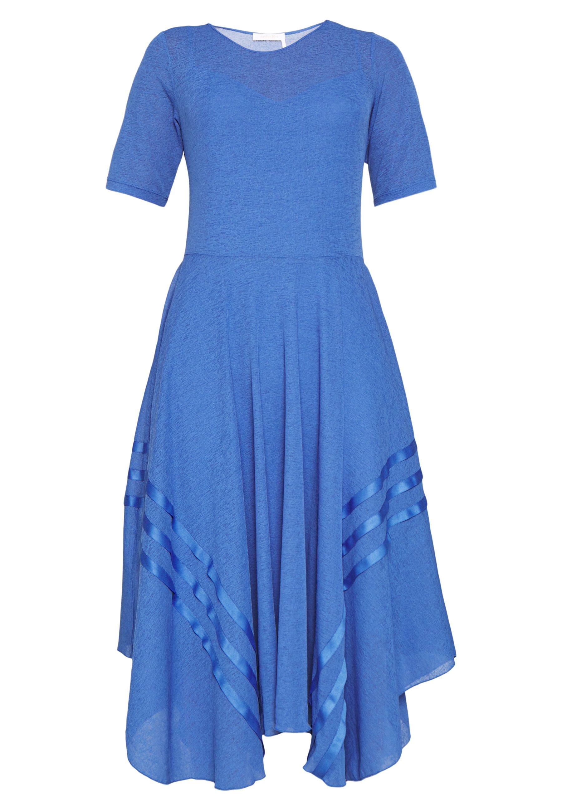 See by Chloé Sukienka dzianinowa - cosmic blue