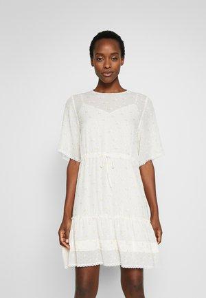 Korte jurk - multicolor/white