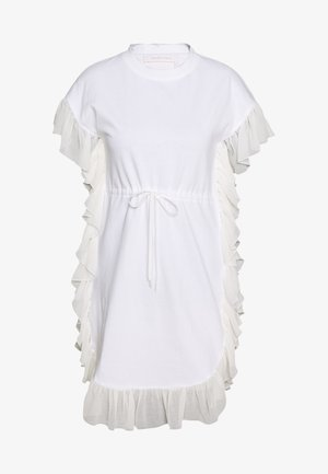 Jersey dress - white powder