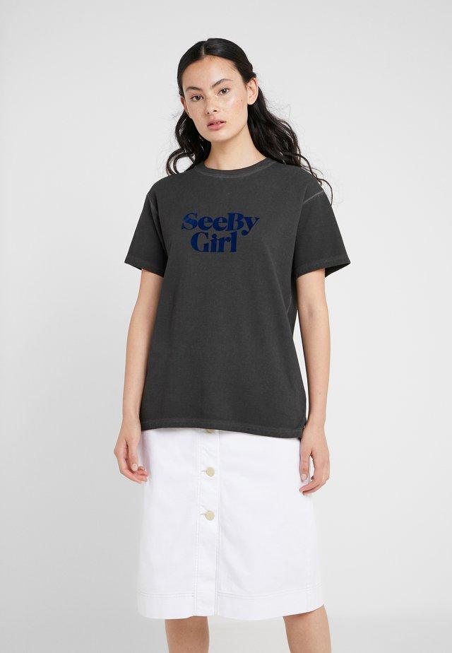 T-shirt z nadrukiem - granite grey