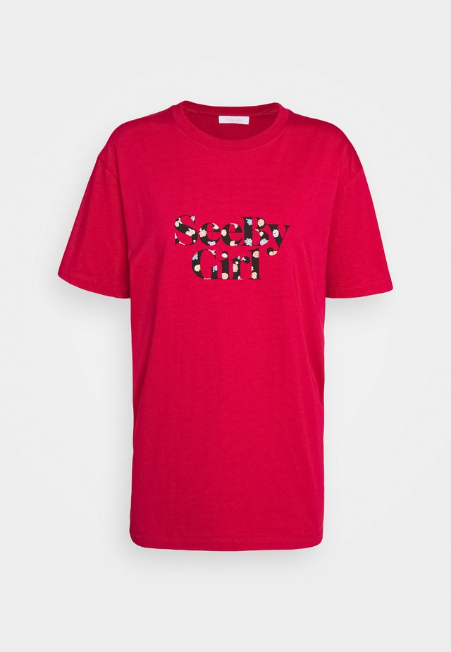 T-shirt imprimé - crimson red