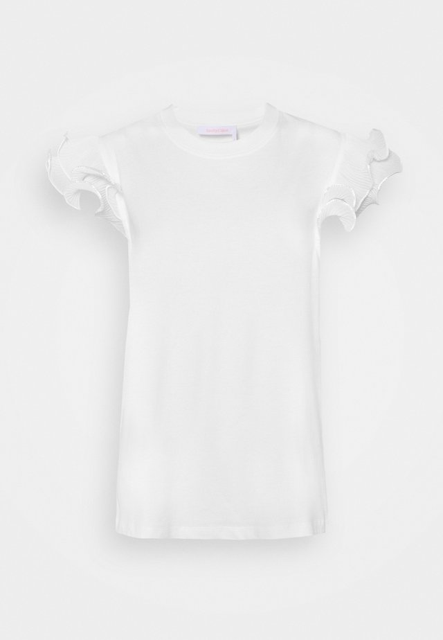 Print T-shirt - white powder