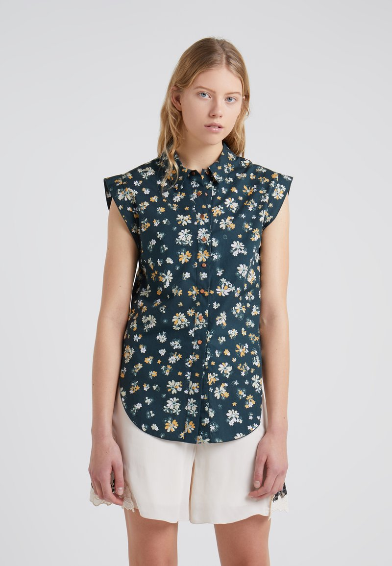 See by Chloé - Button-down blouse - mulcicolor/green