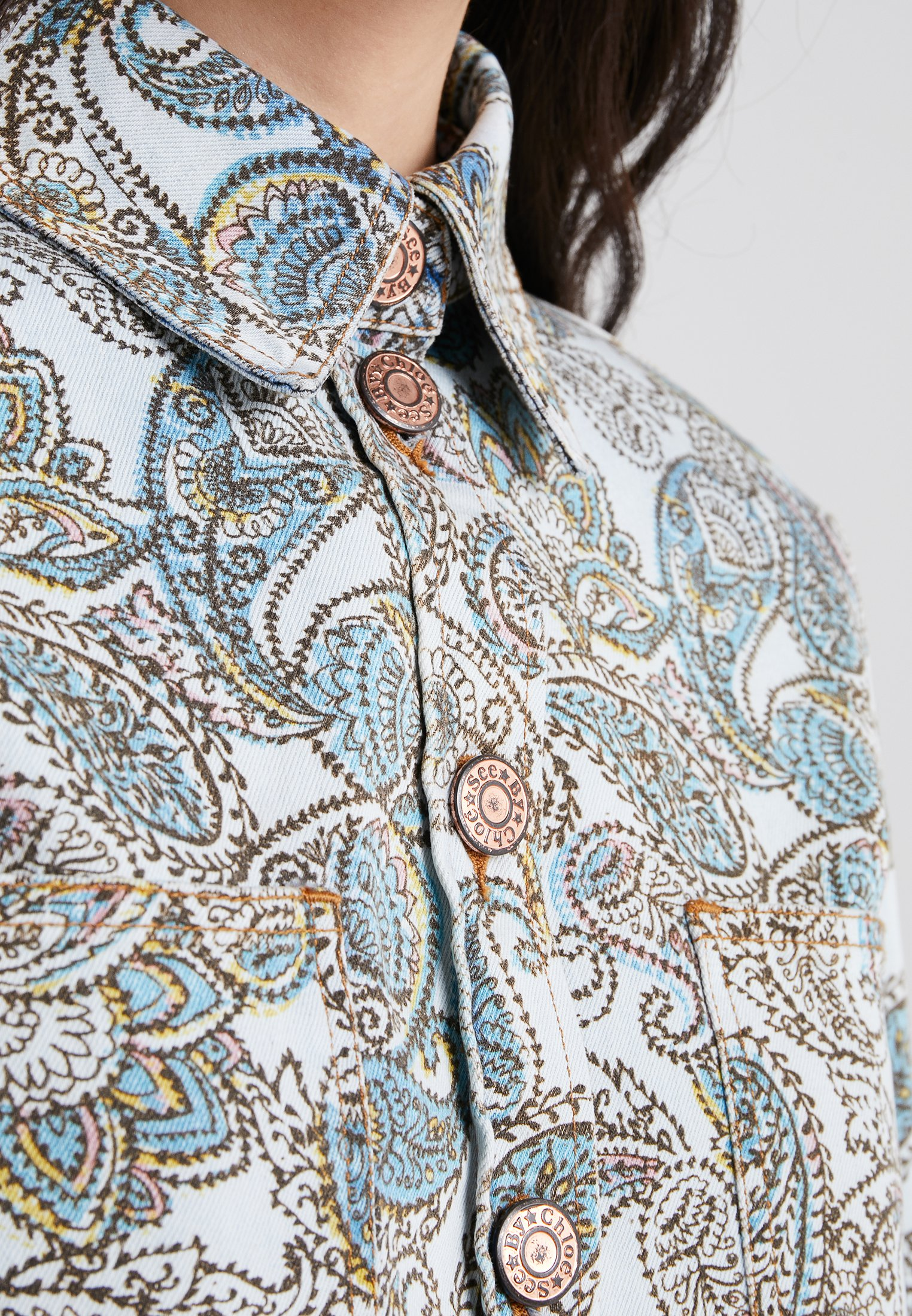See by Chloé Camisa multicolor/blue