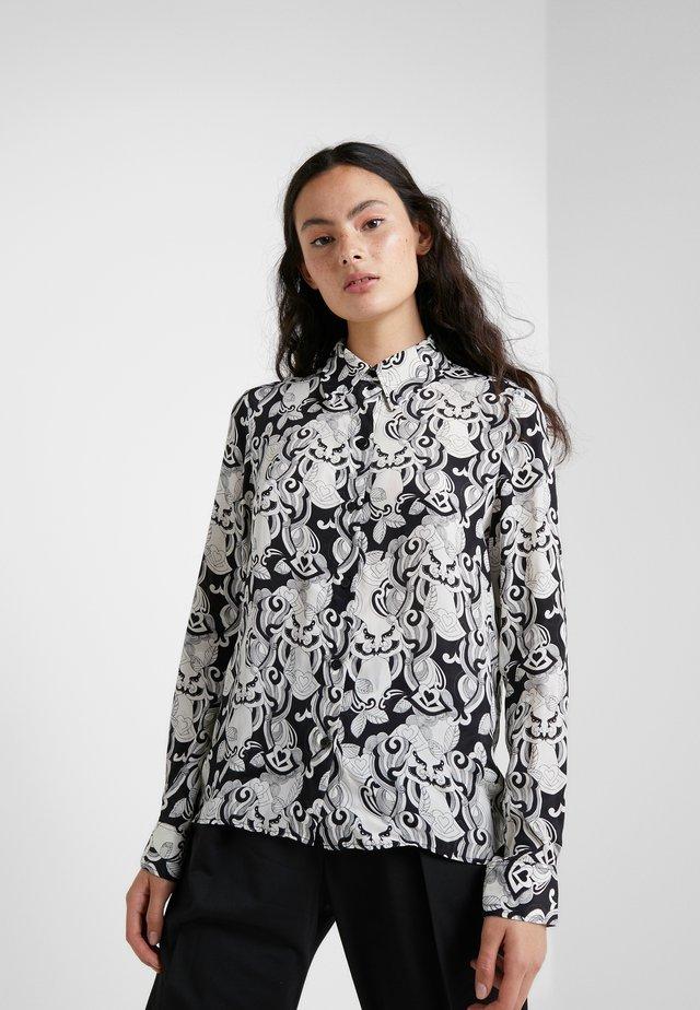 Button-down blouse - black/white