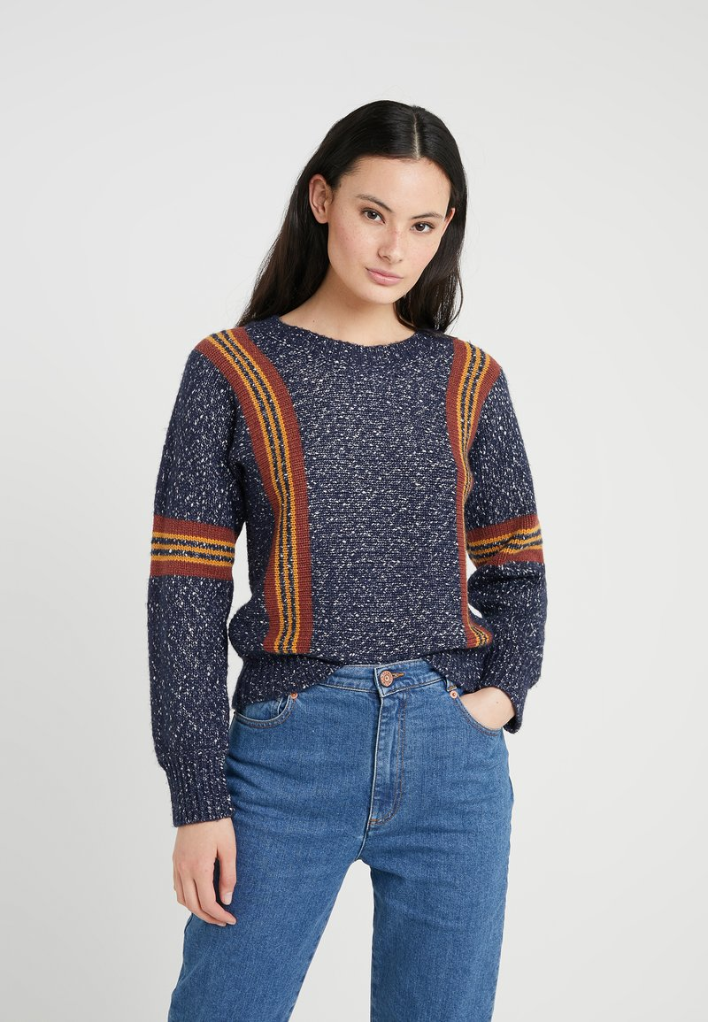 Multicolor blue Chloé See By Pullover 34RjL5Aq